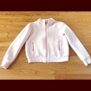 CAbi Pink Waffle Print Zip Up Jacket